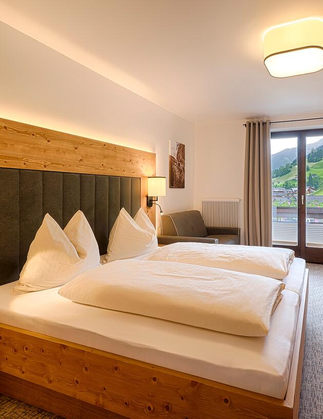 Doppelzimmer Ursprung in der Pension Alt-Nesslerhof