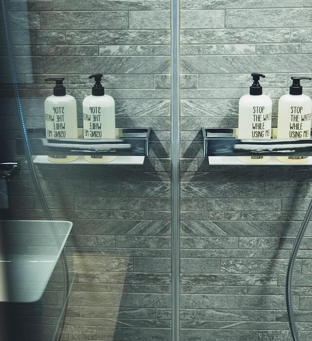 Badezimmer im Hotel Nesslerhof