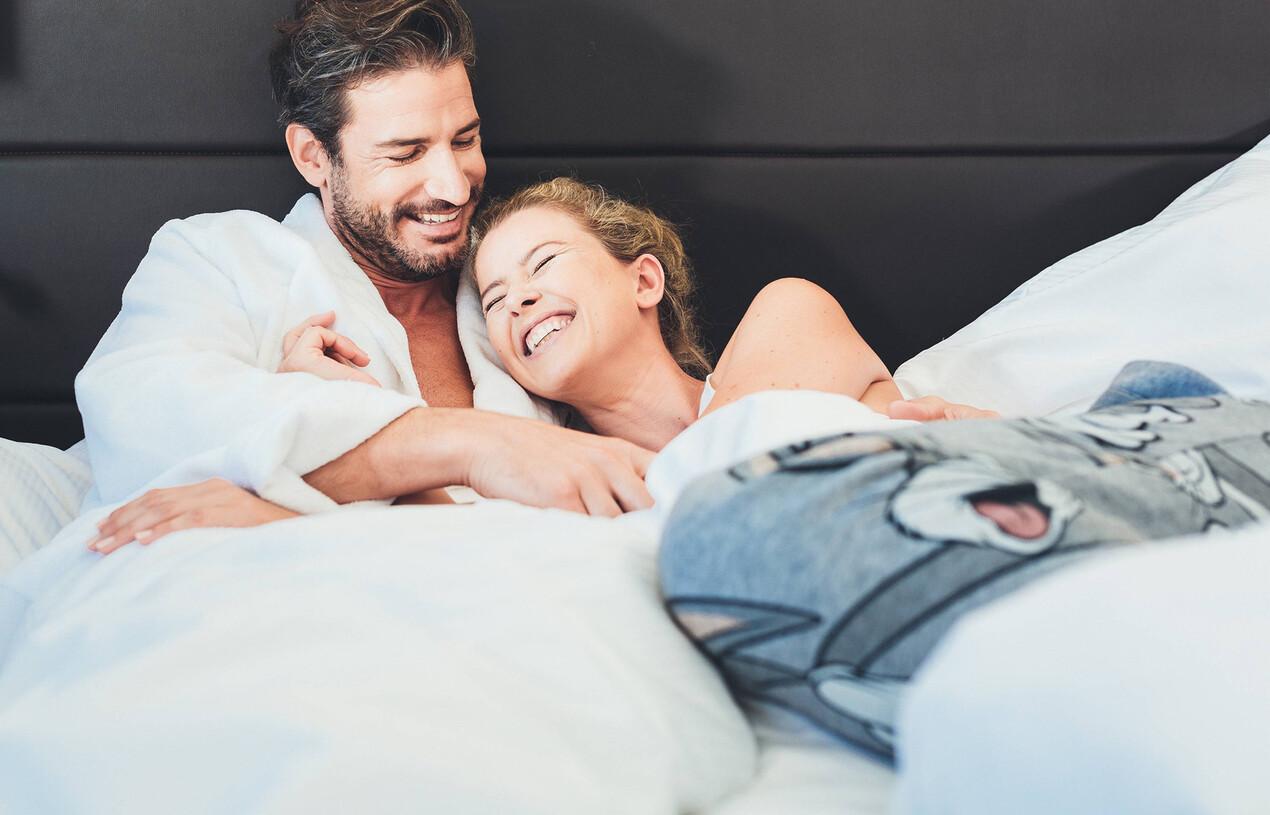 Komfortable Betten im Doppelzimmer in Großarl